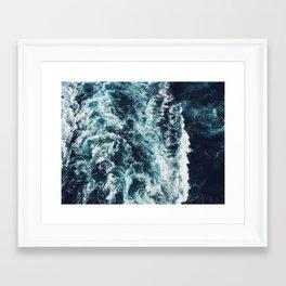 DARK BLUE OCEAN Framed Art Print
