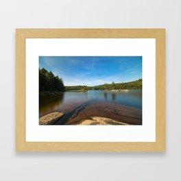 Rock Under Water Photography Framed Art Print