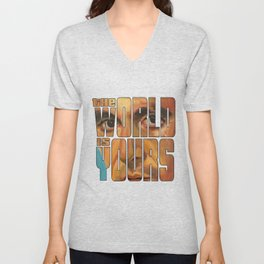 The world is yours Unisex V-Neck