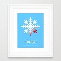 fargo Framed Art Prints featuring Fargo by Brian Walker
