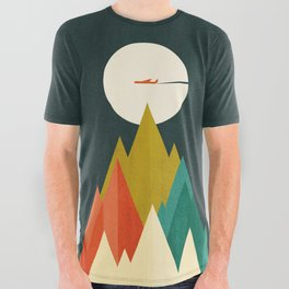 Life is a travel All Over Graphic Tee