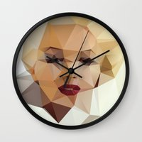 positive Wall Clocks featuring Monroe. by David