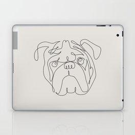 One Line English Bulldog Laptop & iPad Skin