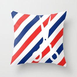 Barber Scissors Throw Pillow