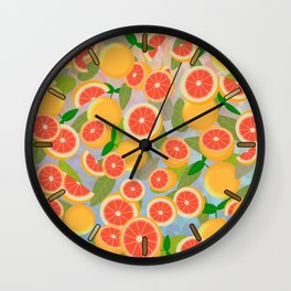 Grapefruit Song Wall Clock