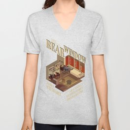 Rear Window Hitchcock Tribute Poster Unisex V-Neck