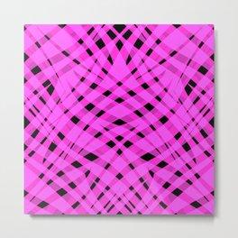 Neon abstract  black - pink Metal Print