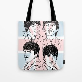 Face The Fab Four 2 Tote Bag