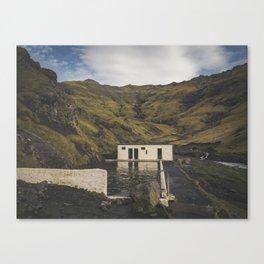 Seljavallalaug Pool, Vik, Iceland Canvas Print
