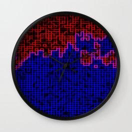 Bleeding Pixels Wall Clock
