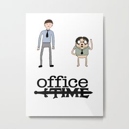 Office Time Metal Print