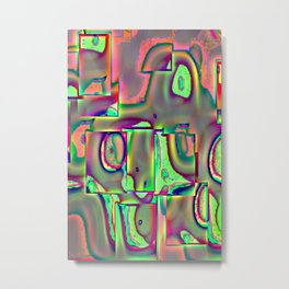 Surreal with flate tire Metal Print