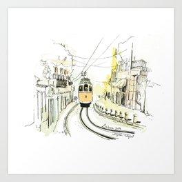 Lisbon Aquarelle No.2 Art Print