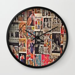 Retro Advertisements  Wall Clock