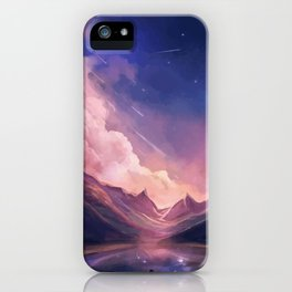 Astronaut on a planet iPhone Case