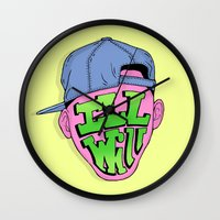 fresh prince Wall Clocks featuring Fresh Prince of Bel Air by shoooes