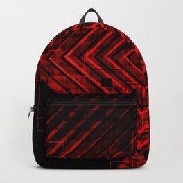 Modern Red and Black Geometrical Pattern Design Backpack