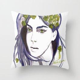 Emerald Eyes Throw Pillow