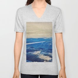 Airplane above the Clouds I Unisex V-Neck