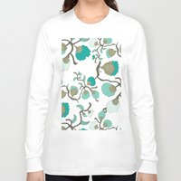 wallpaper Long Sleeve T-shirts featuring Wallpaper floral by cactus studio