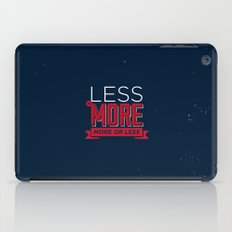Less is more iPad Case