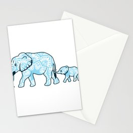 Elephant Mother Child Family Protection Nature Gift Stationery Cards