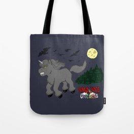 Horror Movie Unicorns: Wolfman Tote Bag