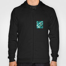 Plaid Pocket - Teal Blue/Green Hoody