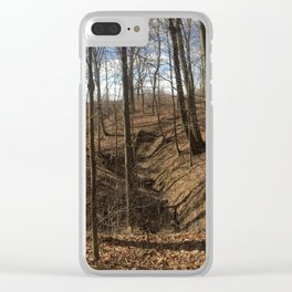 Winter Gully Clear iPhone Case