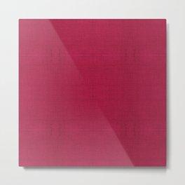 """Rose fuchsia Burlap Texture (Pattern)"" Metal Print"