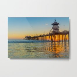 Orange Sunset in Orange County Metal Print