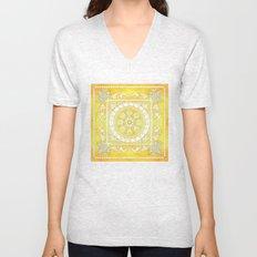 Golden Henna Mandala Unisex V-Neck