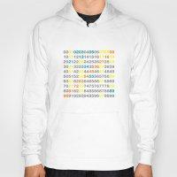 numbers Hoodies featuring Numbers by Andrew Reid