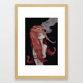 Celosia - Fire Muse Framed Art Print
