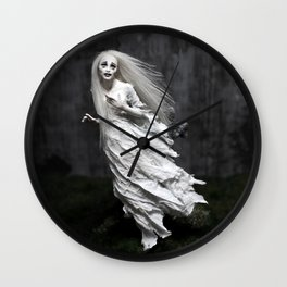 White Ghost Wall Clock