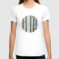 bathroom T-shirts featuring Robin Trees by Sandra Dieckmann