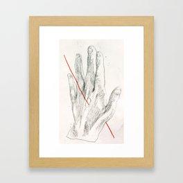 Red Line II Framed Art Print