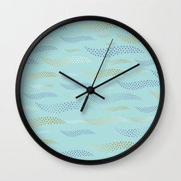 Waves / Tiger (stylized pattern) 29 Wall Clock