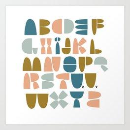 wonky ABC Art Print
