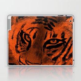 Tiger with Orange Background Laptop & iPad Skin