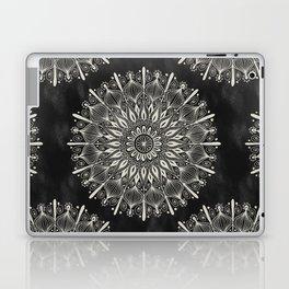 Vintage Mandala on black Laptop & iPad Skin
