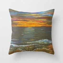 Sun Ripened Sand Throw Pillow
