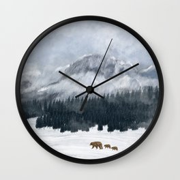 nature will find a way Wall Clock