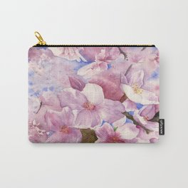 Cherry Blossom , Sakura ,  Art Watercolor Painting print by Suisai Genki  Carry-All Pouch