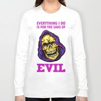 evil Long Sleeve T-shirts featuring EVIL by DesecrateART (Infected)