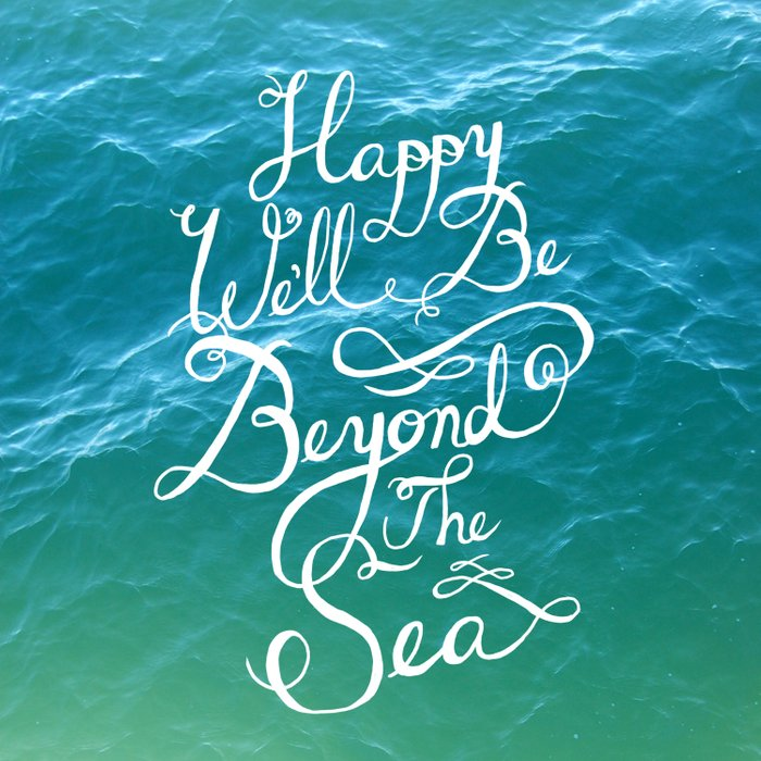 Happy We'll Be Beyond the Sea Duvet Cover