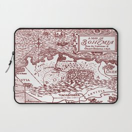 Map of Bohemia (red) Laptop Sleeve