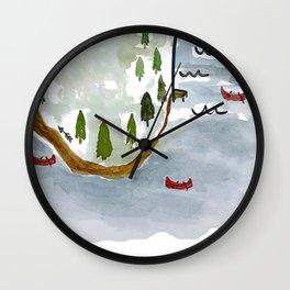 On the Lake Wall Clock
