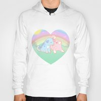 puppies Hoodies featuring Puppies in love by Fufunha