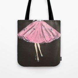 Jolie Pink Fashion Illustration Tote Bag